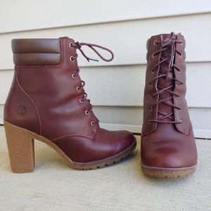 Timberland COGNAC Women Tillston Glancy Lace Ankle
